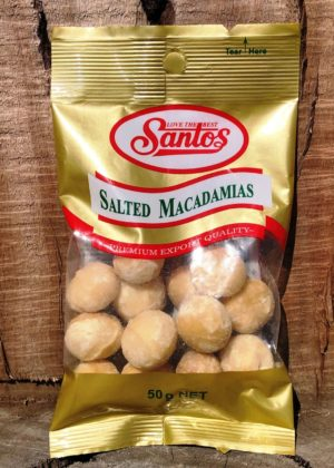 SANTOS Nuts Salted Macadamias 50g